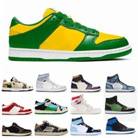 New Mens Sapatos de Basquete 1S Alto Og Tie Tye Pine Turbo Verde Bloodline 1 Homens Mulheres Esportes Sneaker T Nakeskin S
