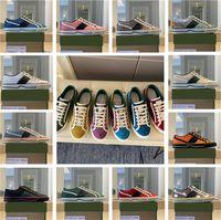 Frauen und Männer Sneaker Mode Designer Spitze Niedrige Freizeitschuhe für Frau Weitere Farbplattform Trainer Gehen Flache Turnschuhe mit Kastengröße 35-45