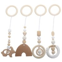 Novelty Items 4Pcs Wooden Molar Toys Baby Chewing Playthings Household Teether Adornments