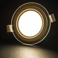 6 W 9 W 12 W 18 W 24 W Yuvarlak / Kare Cam LED Downlight Gömme LED Panel Işık Nokta Tavan Aşağı Işık Uzaktan Kumanda Aydınlatma