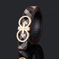 Designer Bambini Plaid Belt Boutique di lusso Bambini Fibbia in metallo Cinture Ragazzi Ragazze PU Leather All-Match Accessori 80cm 108 cm A7218