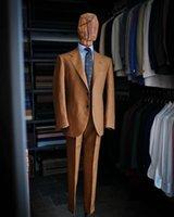Men's Suits & Blazers Arrival Brown Notch Lapel Men Wedding Slim Fit Tuxedo Terno Masculino Prom Groom 2 Pieces Blazer Jacket+Pant Custom