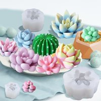 3D Succulent Mold Silicone Scented Candle Moulds Cake Decoration Handmade Soap Artificial Plant Epoxy Resin Molds