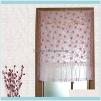 Drapes Deco El Supplies Home & Garden Floral Short Living Room Tulle Curtains For The Kitchen Sheer Voile Curtain Window Screening Treatment