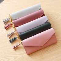 Wallets Women Small Leather Purse Tassel Card Bags For 2021 Female Money PU Zipper Clip Daily Lady Wallet