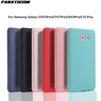 6 Farben Matte TPU Silikon-Fälle für Samsung Galaxy C5 C5PRO C7 C7PRO C9 C9PRO C10 Plus Anti-Fingerprint-Telefonabdeckung