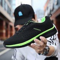 نمط الأزياء الدانتيل يصل تشغيل الأحذية الناعمة الوحيد الأسود الأخضر الكلاسيكية الرجال حذاء مصنع أقل سعر الأحذية الرياضية حجم 36-45 # 17