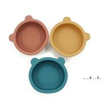 Cuenco de silicona Bebé Alimentación de vajillas Forma de la forma de la placa de forma antideslizante Lucer para bebés bebé platos de alimentación FWD5212