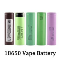 Migliore qualità 18650 Batteria HG2 30Q VTC6 3000mAh NCR 3400mAh 25R 2500mAh E CIG MOD batteria ricaricabile a cellule ionica litio ricaricabile