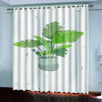 2021 새로운 인쇄 사진 커튼 꽃병 커튼 거실 침실 현대 패션 블랙 아웃 커튼