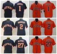 """Бейсбол Джерси 1 Карлос Корреа 27 Хосе Altuve 2 Alex Bregman Houston """"Astros"""" Джерси Мужчины Женщины молодежи 2021 0809"""