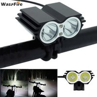 Bike Lights Waterproof 7000Lm 2* XM-L T6 LED Bicycle Light Headlight Front Headlamp Cycling +Rechargable 18650 Battery
