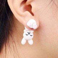 Yutong imixlot artigianale polimerico polimerico carino coniglio orecchini orecchini 3D orecchino per le donne ragazza bambini brincos regalo gioielli
