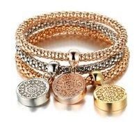 JH Tree of Life Bracelets Designer Vintage Designer Strass Gold Color Diamond Charm Braccialetto Popcorn Catena Gioielli per le donne Regalo di Natale