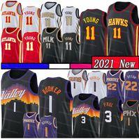 Devin 1 Booker Jersey Trae 11 Jovem Jerseys 3 Chris Paul Basketball Jersey Steve 13 Nash Charles 34 Barkley Malha Los Retro Angeles Jersey