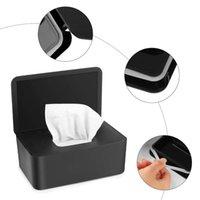 Boîtes de mouchoirs de tissus Chambres-serviettes Séchage de Papier humide Couvercle de protection sans poussière Tissu de rangement de la boîte de rangement avec couvercle pour la maison JY