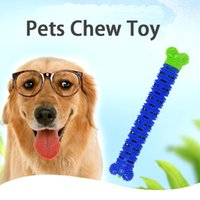 Soft Dog Chew Toy Silicone Pet Toothbrush Teeth Cleaning Cats Molar Rod Chewers for Puppy Large Small Dogs Detachable Non Toxic