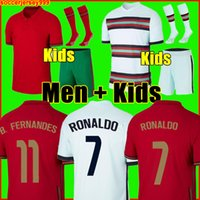 2020 رونالدو لكرة القدم جيرسي برونو فرنانيس 2021 أندريه سيلفا البرتغال جواو فيليكس بيبي لكرة القدم قميص كرة القدم الرجال + أطفال مجموعات مجموعات الجوارب الزي الرسمي