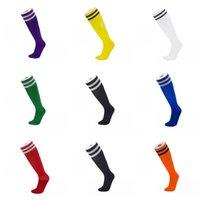 Calzini da calcio lunghi 20 colori per adulti per bambini solido striped sportivo sportivo sportivo uomo traspirante antiscivolo calze donne elastico calzini casual 67 x2