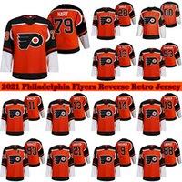 28 Claude Giroux Philadelphia Flyers 2021 Reverse Retro Jersey 13 Kevin Hayes 23 Oskar Lindblom 79 Carter Hart 17 Wayne Simmonds Hockey Jerseys