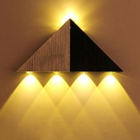 현대 삼각형 LED 벽 램프 알루미늄 홈 실내 조명기구 3W 5W AC 90-264V LED 벽 조명 SCONCE 홈 인테리어