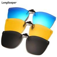 Óculos de sol clipe polarizado masculino em vidros de sol carro dirigindo óculos UV400 lente clipes anti-UV gafas de sol motorista