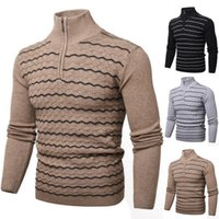 Men's Sweaters WENYUJH Spring Warm Turtleneck Sweater Men Fashion Solid Knitted Mens 2021 Casual Male Double Collar Slim Pullover