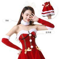 Сексуальные красные веселые дрс, танцевальная роль Wansheng Play Play Costume, рождественская вечеринка DRS 174