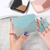 Wallets Short Ladies Wallet Women Coin Purse Tassel Clip Female Pu Leather Hand Money Bag