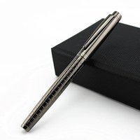 Pluma de Fountain Metallic Grey Forest Pen Titanium Black Medium Nib Hermosa Lattice Tinta Pen, Silver Classic Silver 0.5 Bolsa de terciopelo Opción1