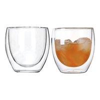Wine Glasses Mini Transparent Double Wall Glass Mug Keep And Cold Coffee Tea Latte Cappuccino Cup Taza Gato Copo
