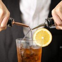 Bar Tools stainless steel wine bottle pourer bar liquor flow spout stopper Rubber spirit pourers Barware DHB8913