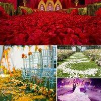 Venta al por mayor 100pcs / lot Decoraciones de boda de moda Flores Atificiales Poliéster Boda Pétalos Rose Patals News Linda Cabezas