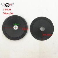Other Auto Electronics 50 Pcs lot 3 Inch Speaker Paper Cone 74 Mm13 Mm Core H: 9.5 Tweeter Cones Speakers DIY Repair Accessories Black Car