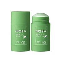 Toptan Yeşil Çay Nemlendirici Çamur Yüz Film Yağı Contro Akne Temizleme Katı Maske Sopa Derin Temizleme Siyah Nokta Cilt Bakımı Rafine