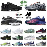 TN 3 Tuned Plus 2 Men Women Running Shoes Radiant Red Laser Blue Triple Black All White Tiger Rainbow Traines Sports Sneakers OOOEsneakerv2