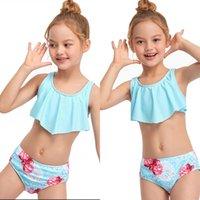 أطفال ملابس السباحة الطفل ملابس السباحة الفتيات السباحة البدلة ل بيكيني الأطفال جذوع الطفل تنصهر جديد انقسام الأطفال 2021 الملابس الإناث crrt