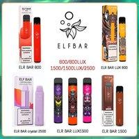 100% authentische ELF-Bar-Kristall-Lux-Einweg-Electronic-Zigaretten-Geräte-Vape-Pod 600 800 1500 2500 Puffs Hotsale-Einweg-Leistungs-Verhältnis 2% und 5% Kräfteter verfügbar Geek