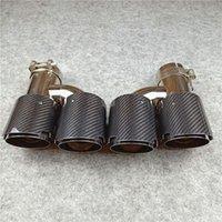 Sistema di scarico moto 1 paia h modello doppio tubo in fibra di carbonio in fibra di carbonio silenziatore in acciaio inox prestita 76 89 101 114 mm tudypipe lucido