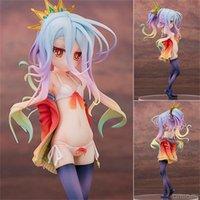 No juego Ninguna vida 20 cm escala Siro Sexy Girl Shiro Cute Dolls Garage Kit Dowin Anime Action Figure Toys T200603