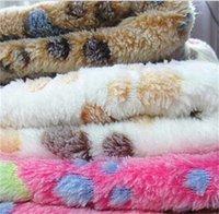 Animal de estimação Cobertor Bonito Pata Pé Imprimir Castas Coberturas Macios Filhotes De Dormir Cachorro Cachorro Cama Quente Capa Coberta Coberturas 233 S2