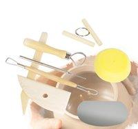 Handwerkzeuge 8 teile / satz Wiederverwendbarer DIY-Keramik-Tool-Kit Home Handarbeit Lehm-Skulptur Keramik Formzeichnung Werkzeuge SN220 IA18