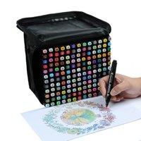 TouchFive 30/40/60/80 Colores Marcadores de arte Marcadores a base de alcohol Dibujo de pluma Conjunto MANGA DUAL HEAPY ART BOCHTET SKETTE DE DISEÑO PENS Y200709