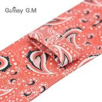 Style Ties For Men Paisley Poliestere Jacquard Tessuto per uomo cravatta da uomo formale festa di nozze sottile collo cravatta serra stretta cravatta