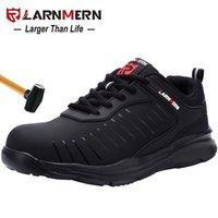 Ларнмерная мужская стальная носящая трудовая обувь для мужчин Легкая дышащая противоскользящая нескользящая антистатическая защитная обувь 210315