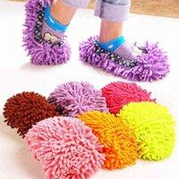 1pc 먼지 방목 슬리퍼 하우스 욕실 바닥 청소 걸레 청소기 슬리퍼 게으른 신발 커버 마이크로 화이버 살포기 천
