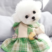 Dog Apparel Bling Floral Clothes Skirt Winter Warm Green Orange Pet Suit For Small Dogs XS XL Cat Drop Puppy Supply