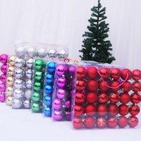 30 pcs 6cm Natal árvores de natal bola colorida árvore decoração ornamentos festa casa jardim decoração ano ano presente