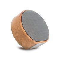 Caja de altavoz Bluetooth portátil de grano de madera A60 para Telefono Reproductor de MP3 PC portátil portátil USB 3.5mm Jack Aux Salida TF Tarjeta