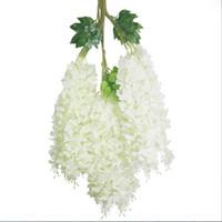 웨딩 꽃 화이트 등나무 웨딩 장식 6 색 인공 장식 꽃 Garlands 무료 배송